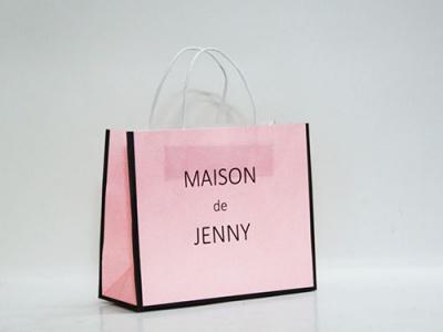 Túi giấy kraft trắng quai xách bằng giấy nhãn hàng MaiSON de Jenny