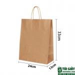 Túi giấy kraft giá rẻ tiện lợi dành cho shop thời trang/ shop giày