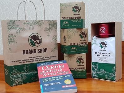 In túi giấy đựng cà phê màng nhôm tiết kiệm và hiệu quả